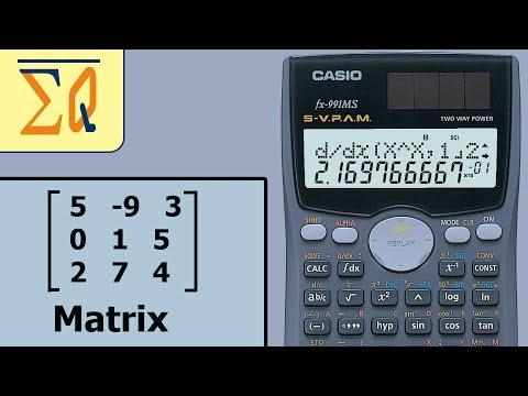 Casio Fx-991ms Matrix determinant, addition etc.