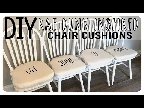 DIY - Rae Dunn Inspired Chair Cushions