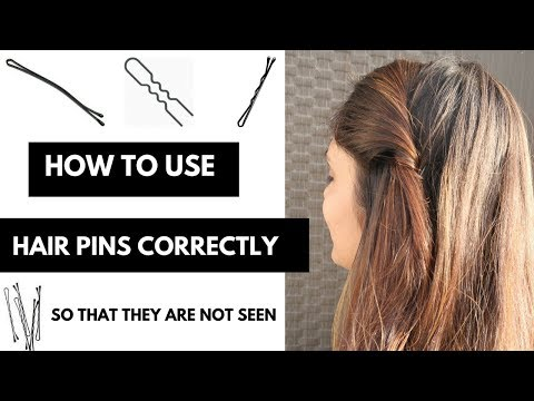 How TO : Use Bobby Pins & Hair Pins Correctly So That They Are Not Seen  In Hindi/Easy Tricks