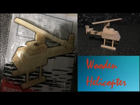 How to Build a Wooden Toy Helicopter