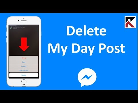 How To Delete Your My Day Post Facebook Messenger