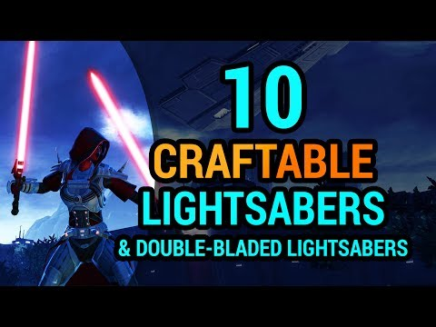 10 Lightsabers & Double-Bladed Lightsabers You Can Craft in SWTOR