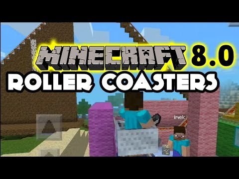 Minecraft Pocket Edition 8.0 Roller Coaster + Glitch - Kids Creations (iOS Gampeplay)