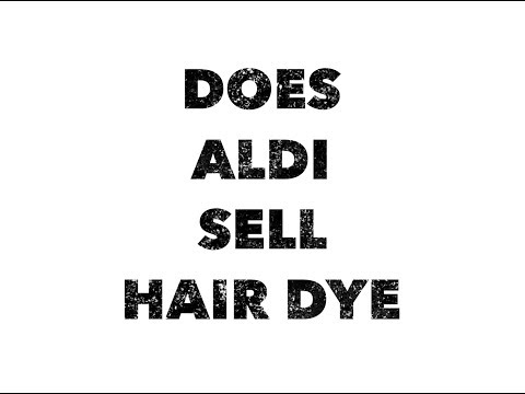 Does aldi sell hair dye in black, brown, or blonde