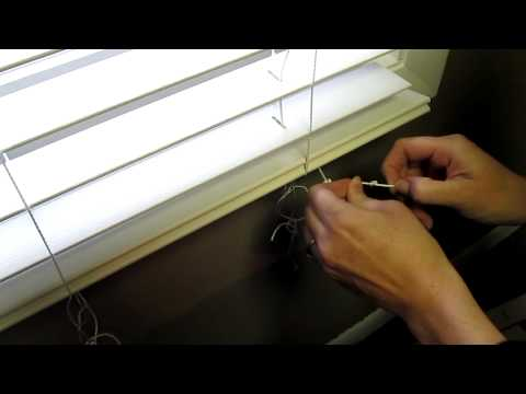 How to shorten Faux blinds