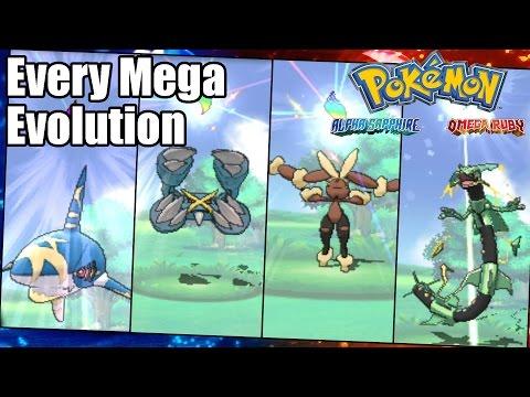 Pokemon Omega Ruby and Alpha Sapphire: Every Mega Evolution
