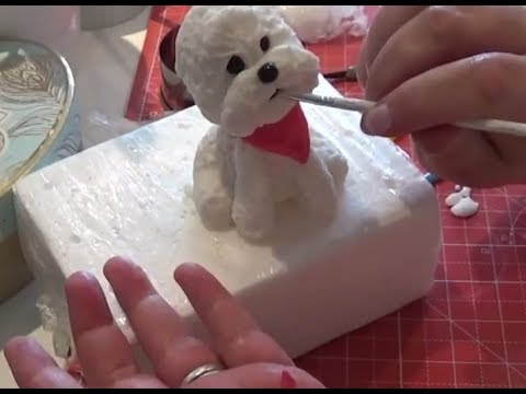 How to make a Birthday Cake Fondant Dog Topper Part 1 of 3