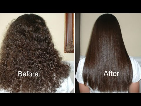 How to Get Straight Hair Naturally At Home | Hair Straightening Treatment