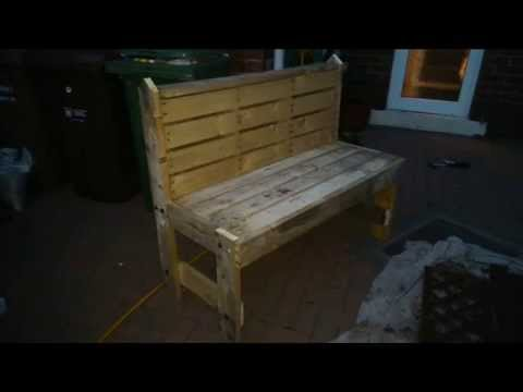 How To Build Your Own Garden Bench Out Of Pallets Step By Step