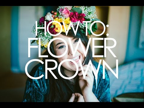 HOW TO: DIY Flower Crown using real flowers!