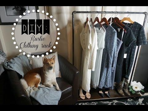 DIY: Rustic Clothing Rack: Affordable