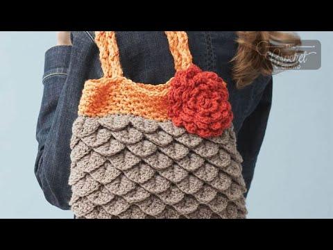 How to Crochet A Purse: Mermaid Tears - Crocodile Stitch