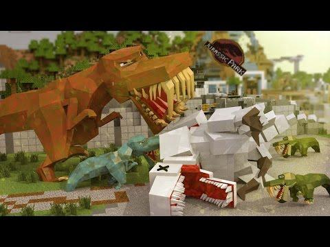 Minecraft | JURASSIC WORLD: Indominous Rex Revenge! (Good vs Evil Challenge)