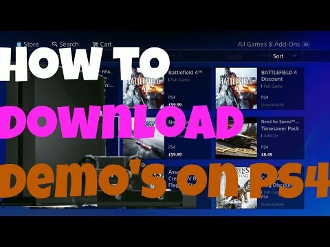 How to download Demo's on PS4