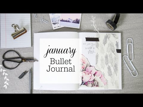 My 1st Journaling Video! 2018 SET UP