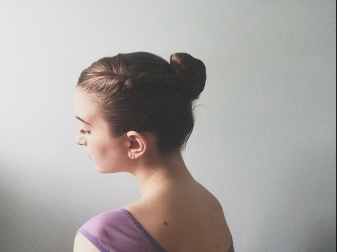How I Do My Bun For Ballet/Ballet Bun For Short + Thick Hair | Audrey Ann
