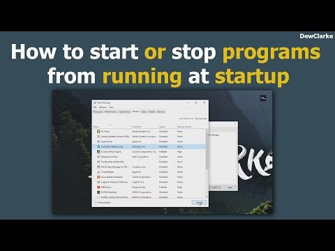 How to Start or Stop Programs From Running at Startup
