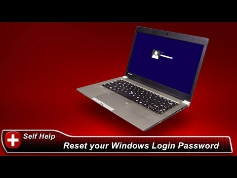 Toshiba How-To: Reset your Windows login password