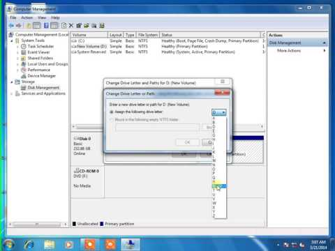 How to change drive letter of partition