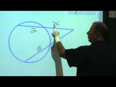 GEOMETRY: Example of Secant lines that intersect exterior to the circle