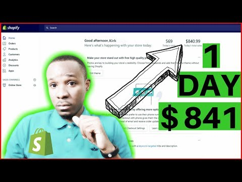 How I Turned $22 into $841 in 1 Day With Shopify Dropshipping (Pexda)