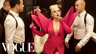 Christina Aguilera Gets Ready for the Gareth Pugh Fashion Week Party | Vogue