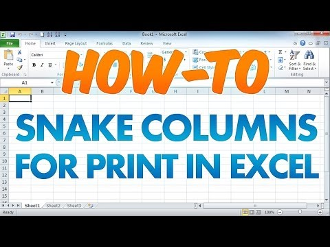 How to Print Long Columns in Excel on 1 Page - Snake Columns / Newspaper Columns
