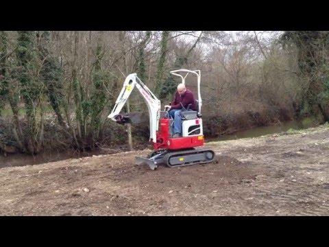 First Try Of The New Takeuchi TB210R Mini Excavator.