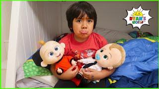 Ryan pretend play babysitting with 1 hr fun kids story!!!