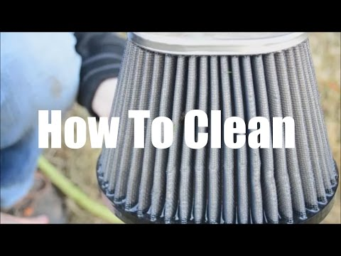 Cold Air Intake Filter Clean And Oil Guide || K&N Cleaner And Oil Kit