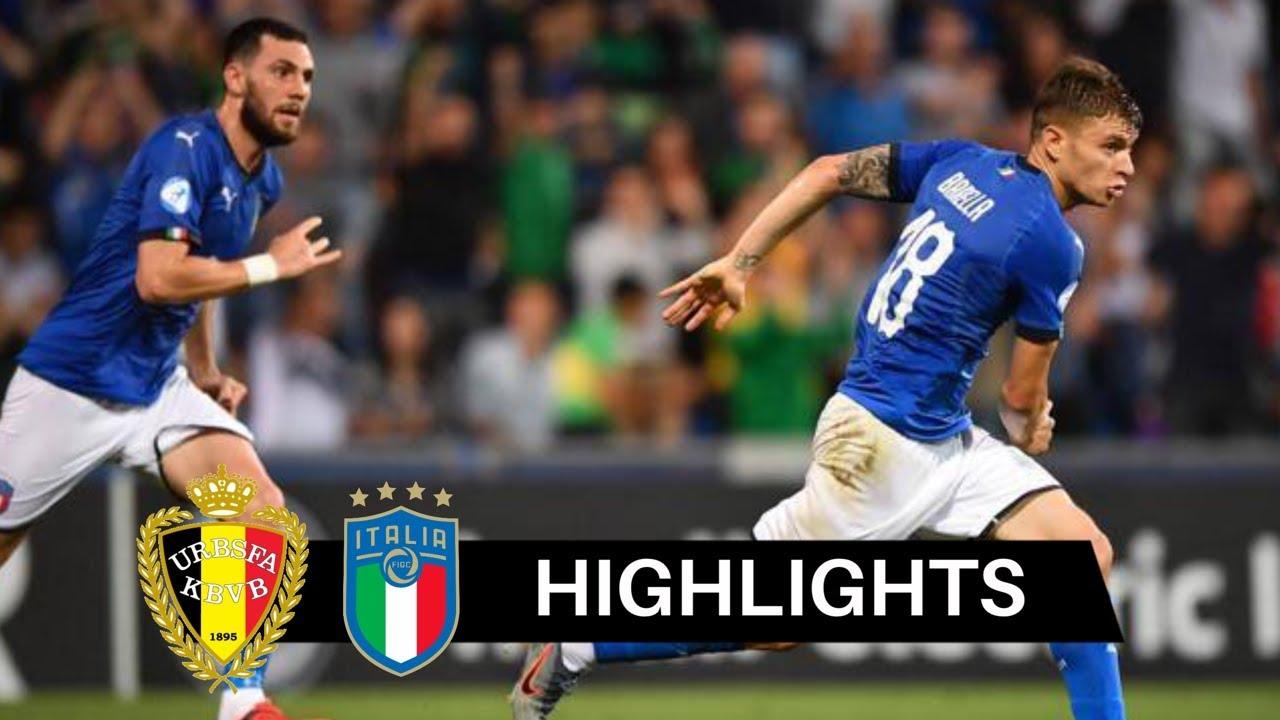 Belgio vs Italia 1-3 Highlights & Goals HD 2019 (Under 21)