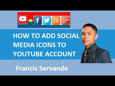 How to add social media icons to Youtube Channel - Facebook, Instagram , Twitter account.