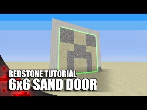 Minecraft: 6x6 Sand Door (Expandable)