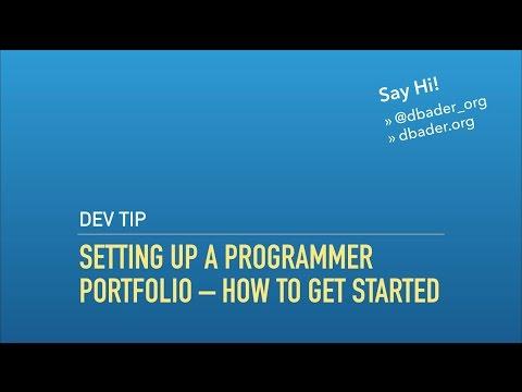 Setting Up a Programmer Portfolio/Developer Blog – How To Get Started