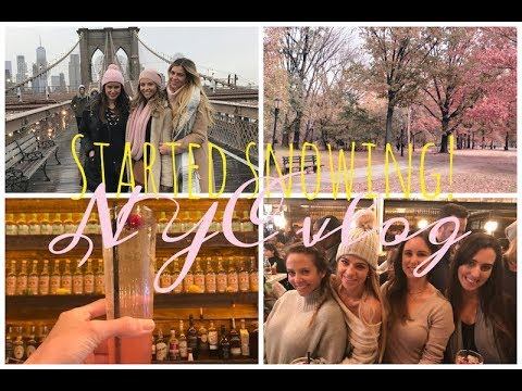 Started Snowing!! NYC Girlfriend's weekend Vlog