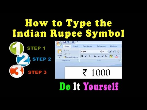 How to Type the Indian Rupee Symbol In Microsoft Word Other Applications