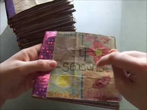 4 seasons Paper Bag Book for kids