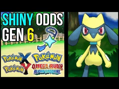 Shiny Pokemon Odds in Pokemon XY & Pokemon Omega Ruby and Alpha Sapphire | Shiny Odds in Gen 6