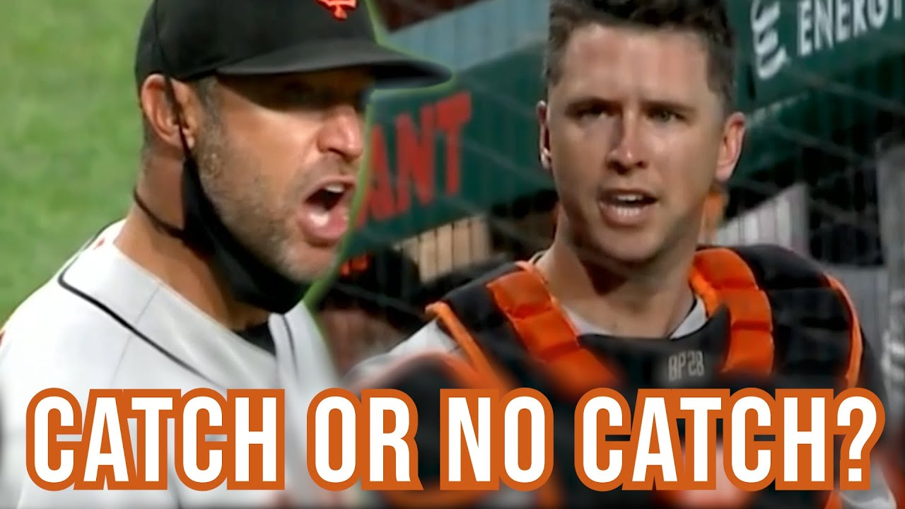 Buster Posey catches or doesn't catch this foul ball, a breakdown