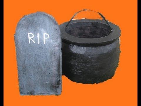 make a halloween cauldron or gravestone