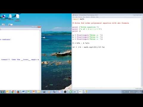 3 Simple Python 3 program with If-elif-else, math and help (AE1205)