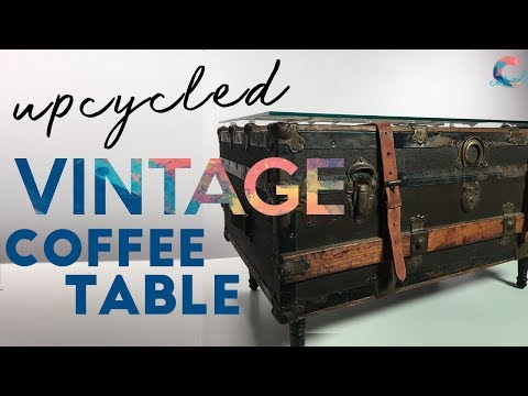 DIY Suitcase Coffee Table | Small Space Solutions