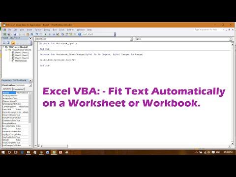 Excel VBA - Autofit Cell Content