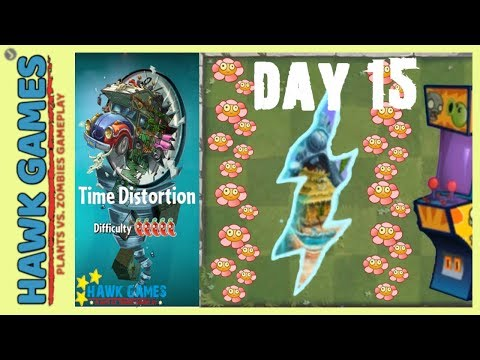 🌳 Plants vs Zombies 2 Time Disortion World Day 15 (Don't Trample the Flowers)