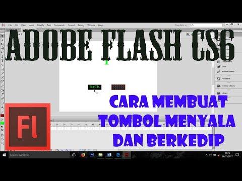 Cara Membuat Tombol Menyala atau Berkedip Di Adobe Flash CS6