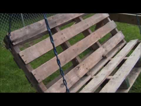 DIY Pallet Project: Super Easy Pallet Swing Built Simply with Minimal Tools