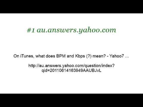What Does BPM Mean In Itunes?