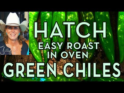 How to Roast Hatch Green Chiles in Oven and Freeze Green Chiles