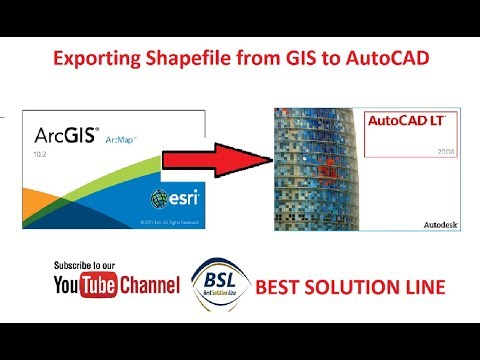 Exporting Shapefile from GIS to Auto CAD (Very Easy Method)
