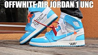 huge inventory 20a88 825ca OFF WHITE AIR JORDAN 1 UNC REVIEW + ON FEET